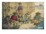 Women Making Leis  Hawaii