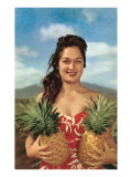Wahini with Pineapples  Hawaii