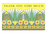 Thank You Very Much  Art Nouveau Frieze