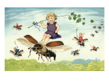 Children Riding Bees