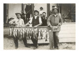 Men with Row of Caught Fish