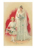 Victorian Bride and Flower Girl