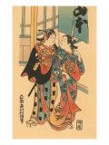 Japanese Woodblock  Couple