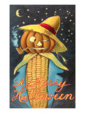 Merry Halloween  Corn Cob Creature
