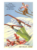 Sun Valley  Idaho  Cartoon Skiers