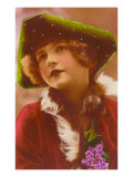 Girl in Green Tri-Cornered Hat