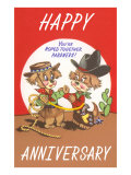 Happy Anniversary  Cartoon Cowboys