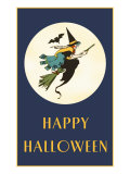 Happy Halloween  Witch on Broom