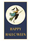 Happy Halloween  Witch on Broom