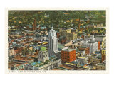 Aerial View of Ft Wayne  Indiana