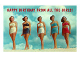 Happy Birthday from all the Girls  Bathing Beauties