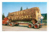 Happy Birthday on Giant Log