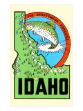 Idaho Map with Trout
