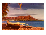 Outrigger on Beach by Diamond Head  Hawaii