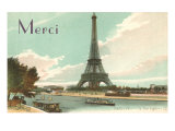 Merci  Eiffel Tower and Seine