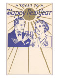 A Toast to a Happy New Year  Couple