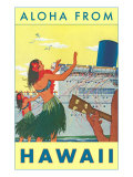 Aloha from Hawaii  Hawaiian Girls Greeting Cruise Ship