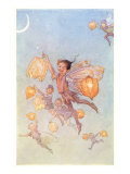 Fairies Floating with Chinese Lanterns