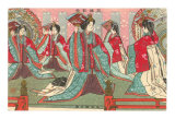 Japanese Woodblock  Women with Fans