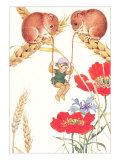 Elf Swinging on Mouse Tales