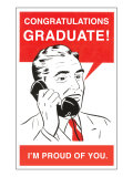 Congratulations Graduate  Man on Phone