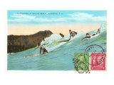 Surf Riding at Waikiki  Hawaii