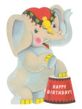 Happy Birthday  Toy Elephant