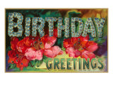 Birthday Greetings  Flowers