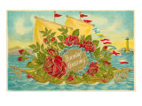 Birthday Greetings  Ship with Roses