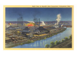 Night  Republic Steel Corporation  Youngstown  Ohio