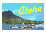 Aloha  Riding Outrigger  Hawaii