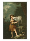 Little Shepherd with Lamb