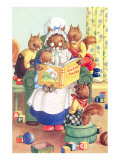 Squirrel Granny Reading Bushy Tales