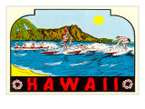 Hawaii  Surfers at Diamond Head