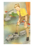 Boy with Model Train