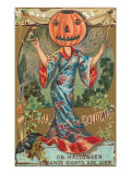 Halloween  Geisha with Jack O&#39;Lantern Head