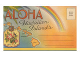Aloha  Hawaiian Islands  Folder