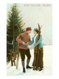 Sun Valley  Idaho  Couple with Skis