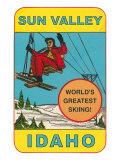 Sun Valley  Idaho  World's Greatest Skiing  Ski Lift
