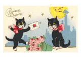 French Black Cats  Bonne Annee