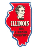 State Cut-Out  Illinois  Lincoln Country