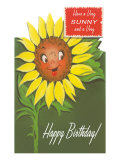 Happy Birthday  Talking Sunflower