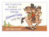 Happy Anniversary  Cartoon Horse