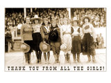 Thank You from all the Girls  Cowgirls
