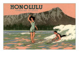 Surf Riders  Honolulu  Hawaii  Graphics