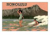Surf Riders  Honolulu  Hawaii  Graphics