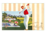Golfing at Resort  Illustration