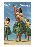 Hi from Hawaii  Hula Dancers