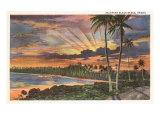 Sunset  Kalapana Black Sands  Hawaii