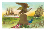 4th of July Greetings  Liberty Bell  Etc